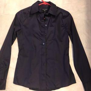 Other - Banana Republic Cotton Dark Purple Shirt 00P
